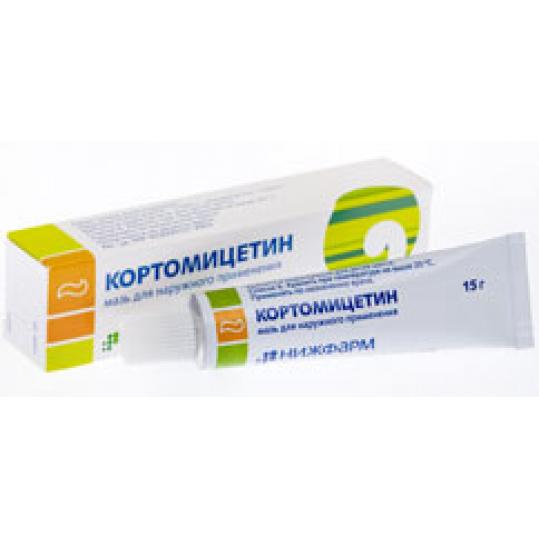 Кортомицетин 15г мазь для наружного применения